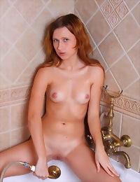 Posing in the bathtub