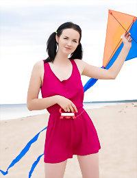 Cute babe on the beach teen art nude